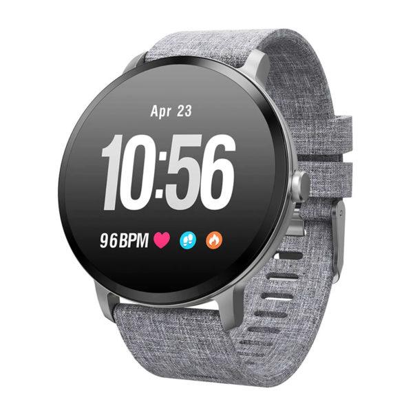 Smartwatch Colmi V11 con cinturino grigio
